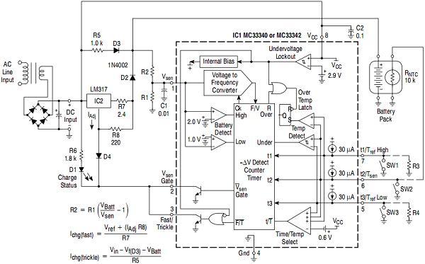 схема зарядного устройства для пальчиковых аккумуляторов встроенного в фонарик - База схем.