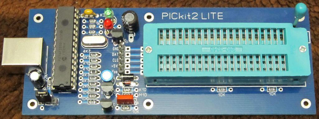 ...на схемотехнике PICkit-2. Студенческий программатор от оригинального...